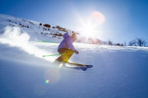 sporty clothing for skiing